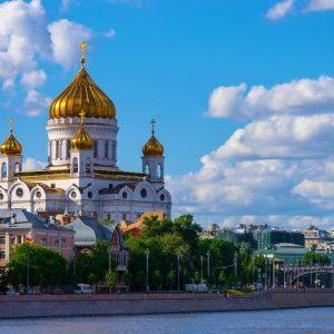 Cathédrale du Christ Sauveur à Moscou en Russie